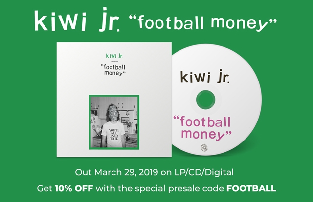 Kiwi jr Football Money CD LP album cover pre-order indie pop 10% off with code football
